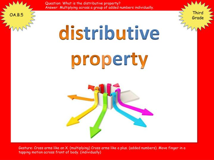 Question: What is the distributive property?