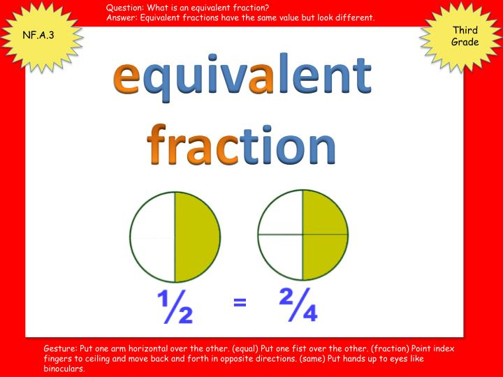 Question: What is an equivalent fraction?