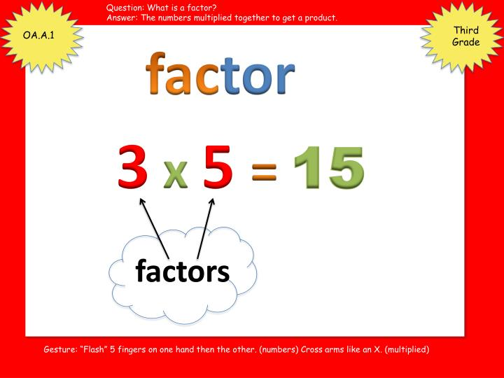Question: What is a factor?