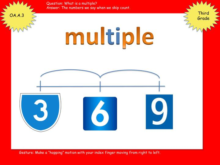 Question: What is a multiple?