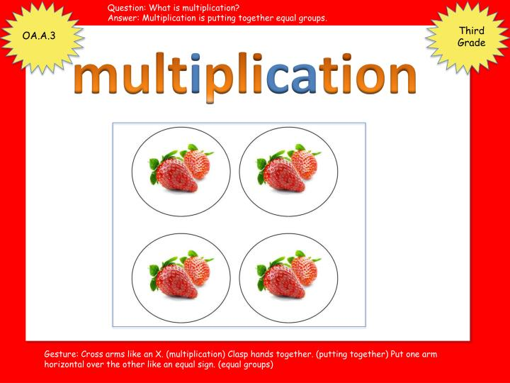 Question: What is multiplication?