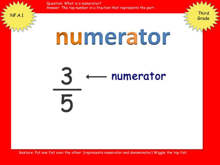Question: What is a numerator?