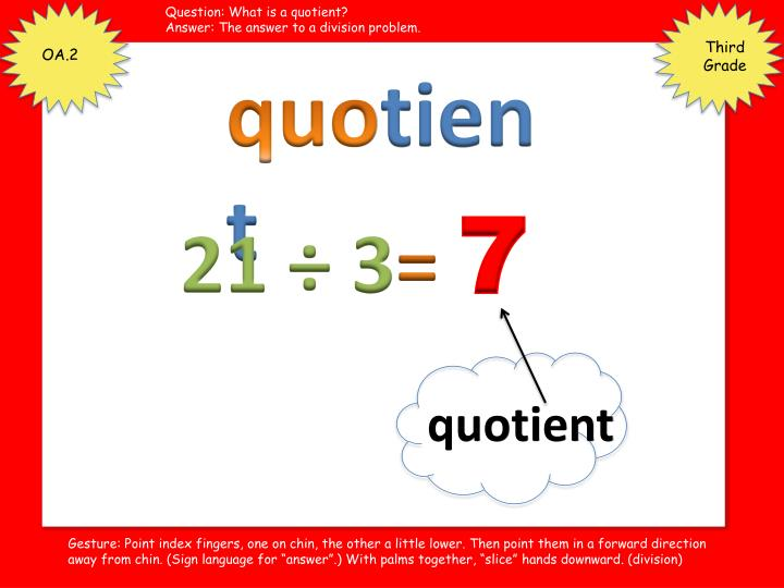 Question: What is a quotient?