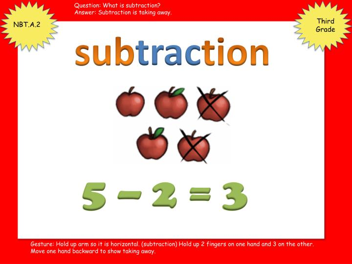 Question: What is subtraction?