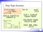 pure type systems