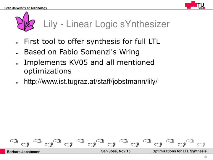 Lily - Linear Logic sYnthesizer