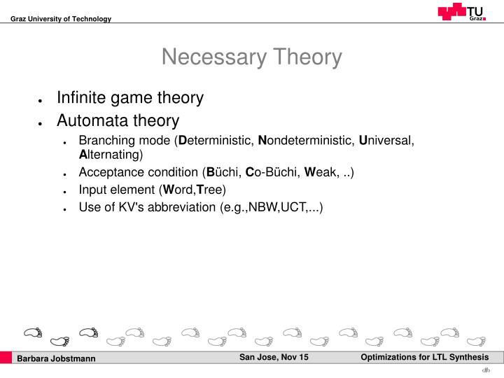 Necessary Theory