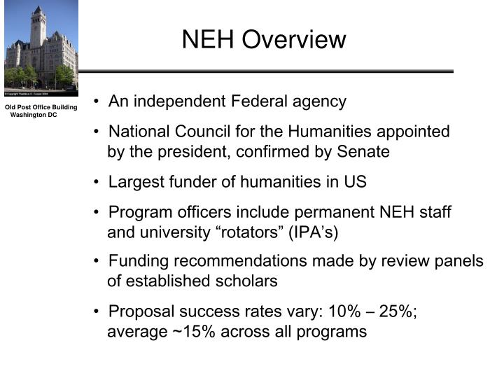 NEH Overview