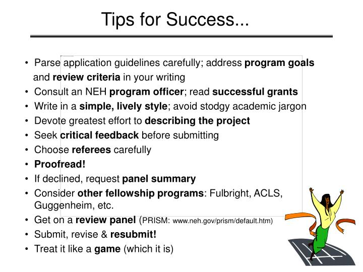 Tips for Success...