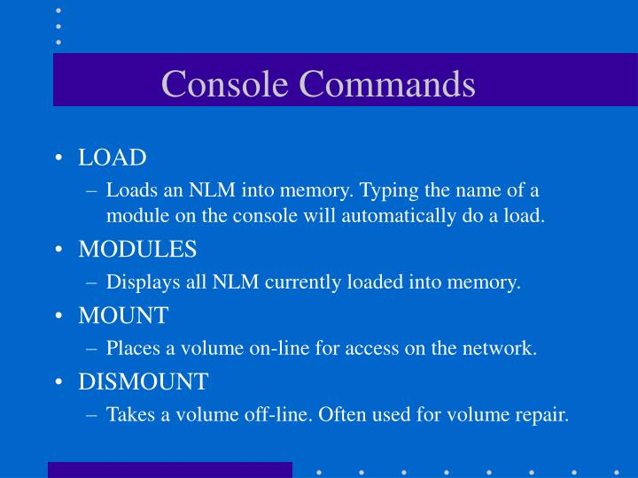 Console Commands