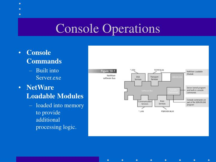 Console Operations