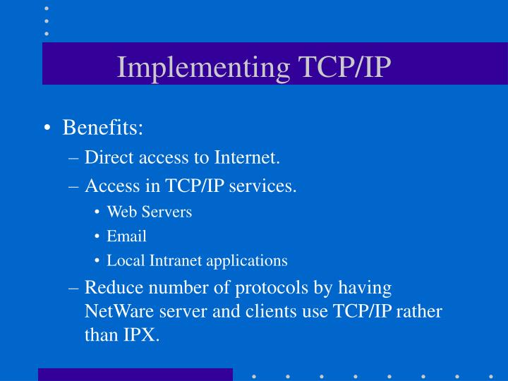 Implementing TCP/IP