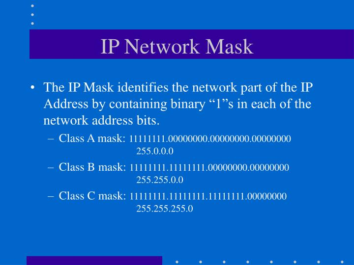 IP Network Mask