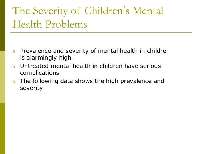 The Severity of Children