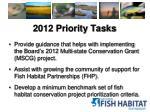 2012 priority tasks