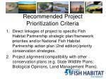 recommended project prioritization criteria