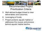 recommended project prioritization criteria2