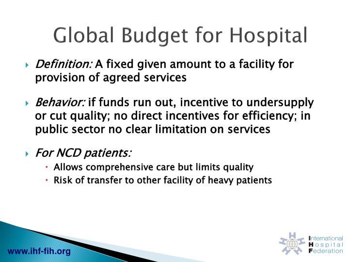 Global Budget for Hospital