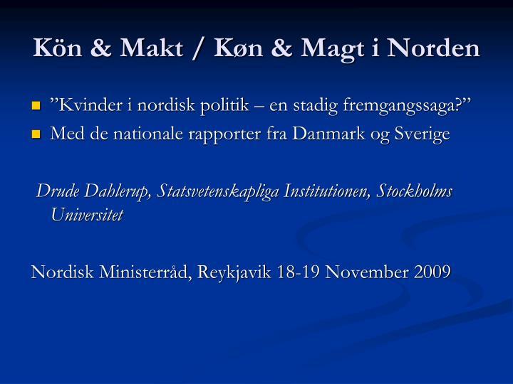 Kön & Makt / K
