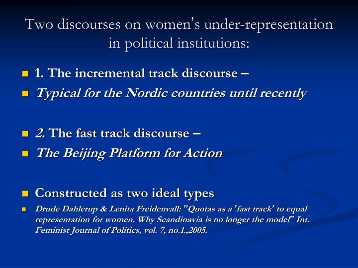 Two discourses on women
