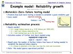 example model reliability growth