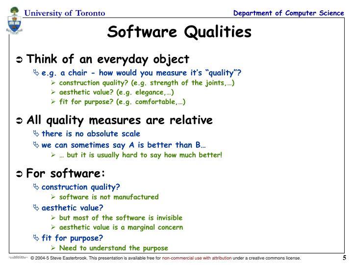Software Qualities