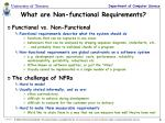 what are non functional requirements