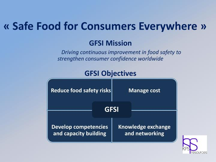 «Safe Food for Consumers Everywhere»