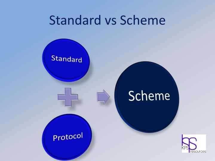 Standard vs Scheme