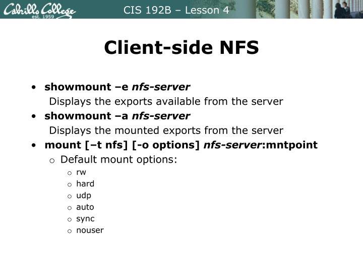 Client-side NFS