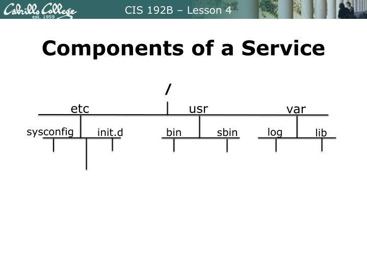 Components of a Service