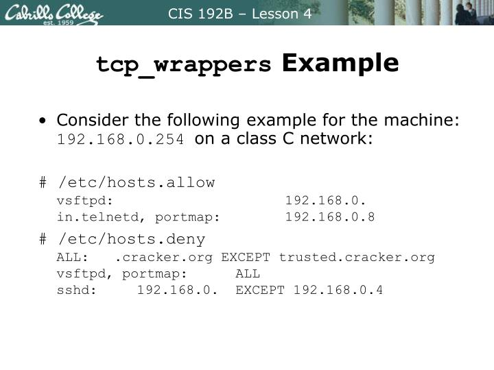 tcp_wrappers