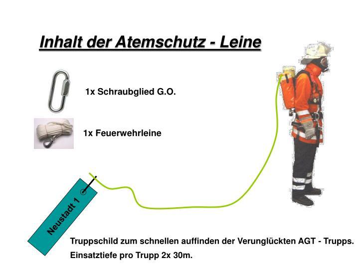 Inhalt der Atemschutz - Leine