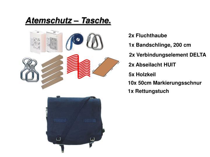 Atemschutz – Tasche.