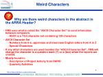 weird characters