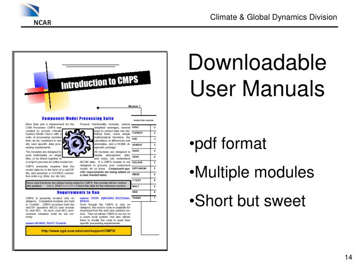 Downloadable User Manuals