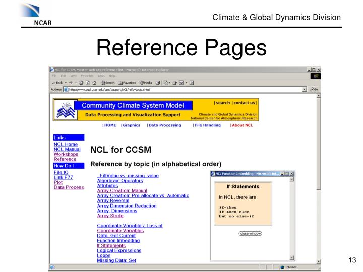 Reference Pages