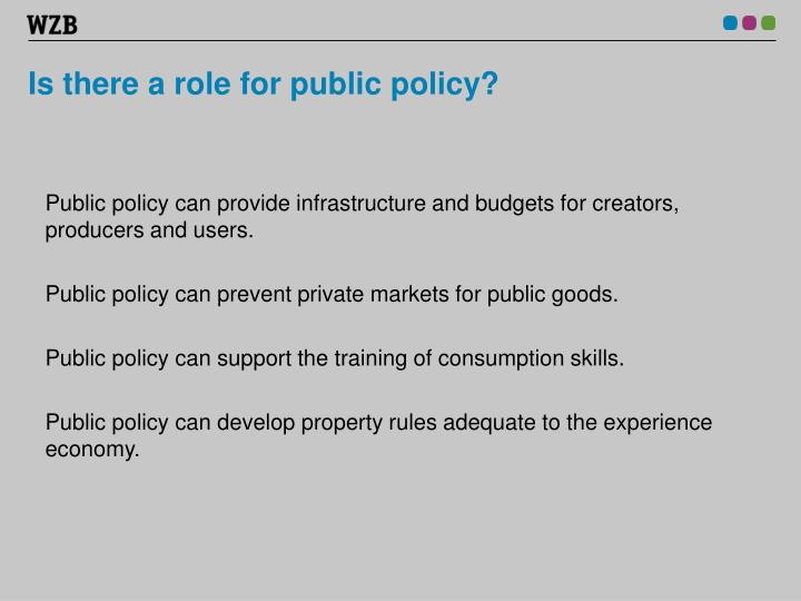 Is there a role for public policy?