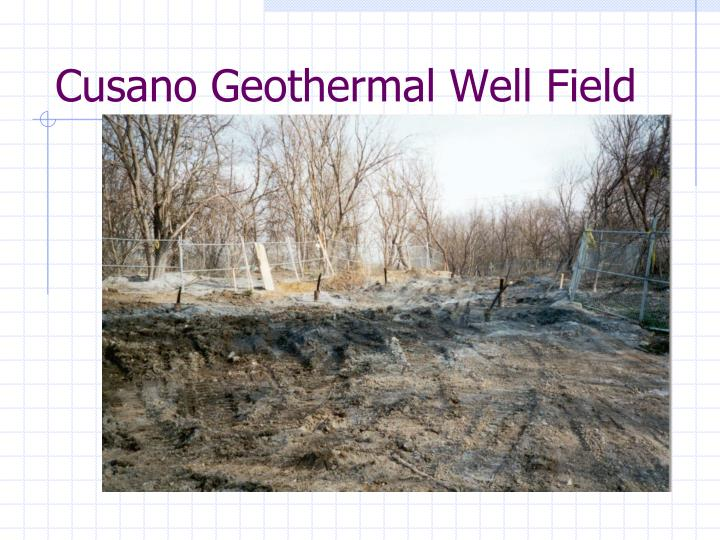 Cusano Geothermal Well Field
