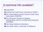 is technical info available
