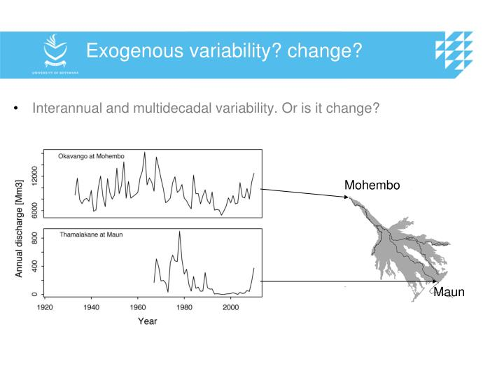 Exogenous variability? change?