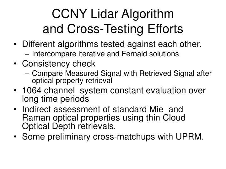 CCNY Lidar Algorithm