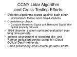ccny lidar algorithm and cross testing efforts