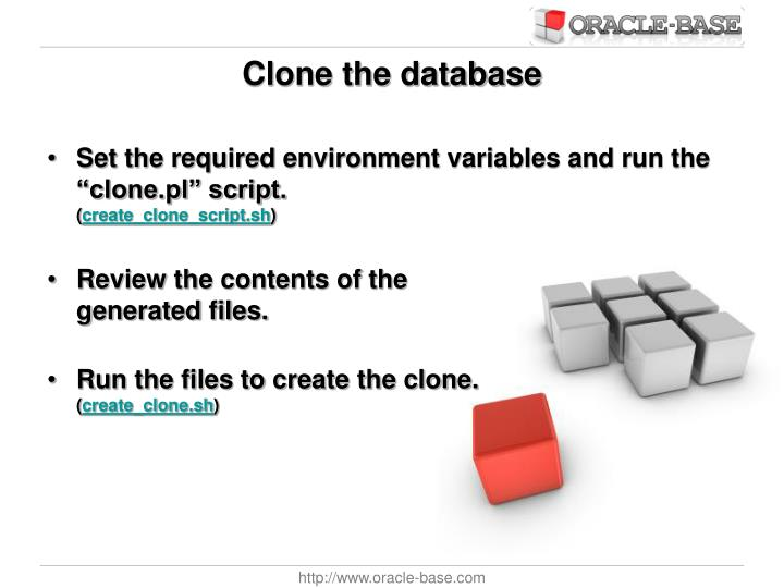 Clone the database
