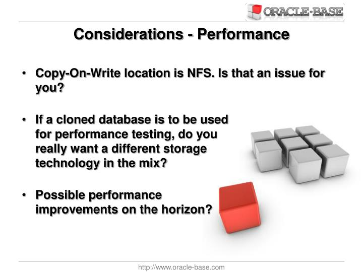 Considerations - Performance
