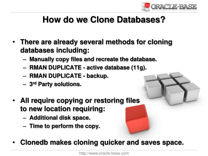How do we Clone Databases?