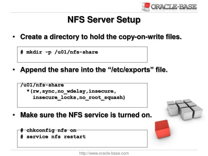 NFS Server Setup