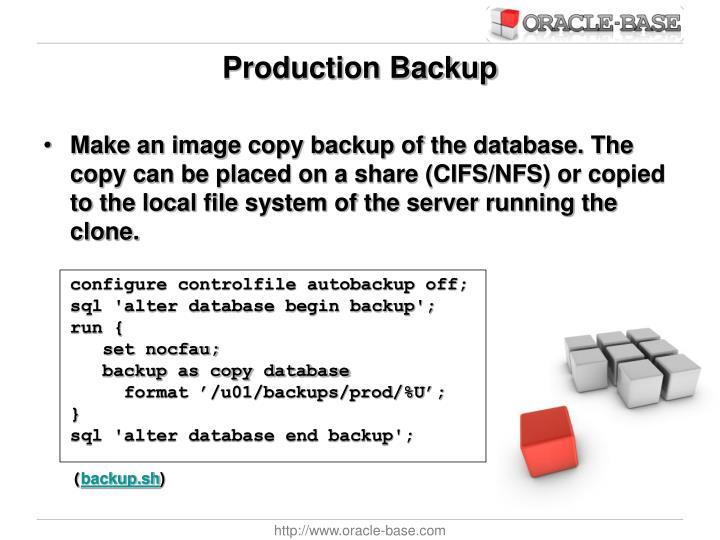 Production Backup