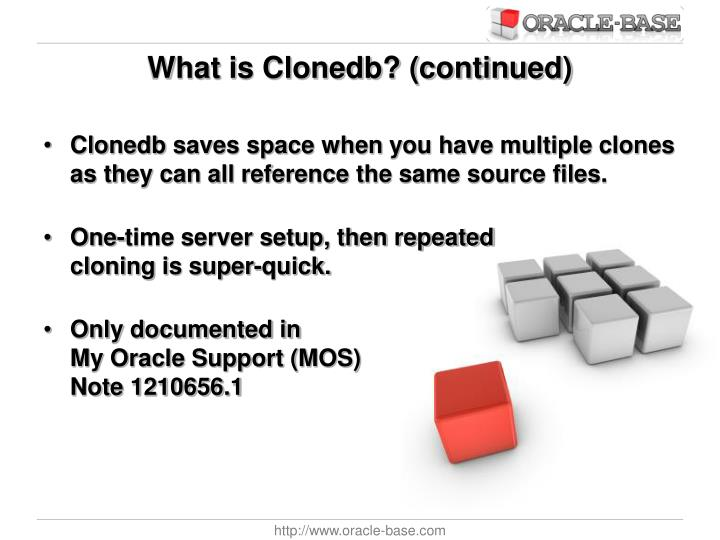 What is Clonedb? (continued)