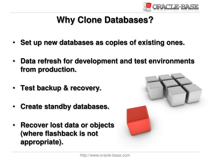 Why Clone Databases?